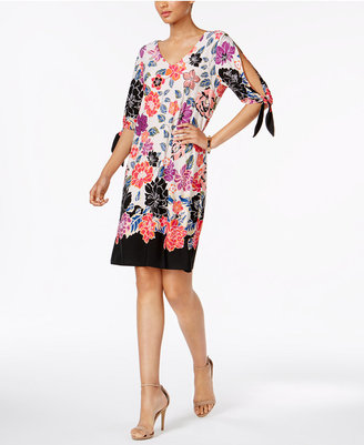 Msk Printed Cold-Shoulder Cutout Dress $69 thestylecure.com