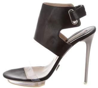 Michael Kors Leather Ankle Wrap Sandals