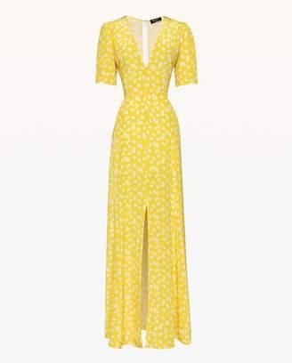 Juicy Couture Ditsy Daisy Silk Maxi Dress