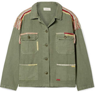 The Great The Sergeant Embroidered Cotton-canvas Jacket - Army green
