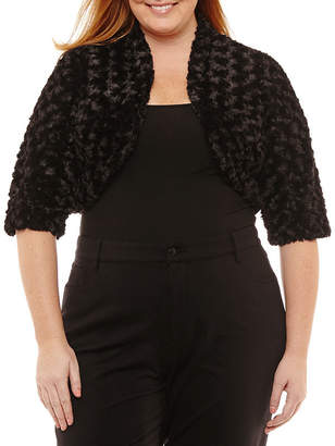 Robbie Bee 3/4 Sleeve Shrug-Plus