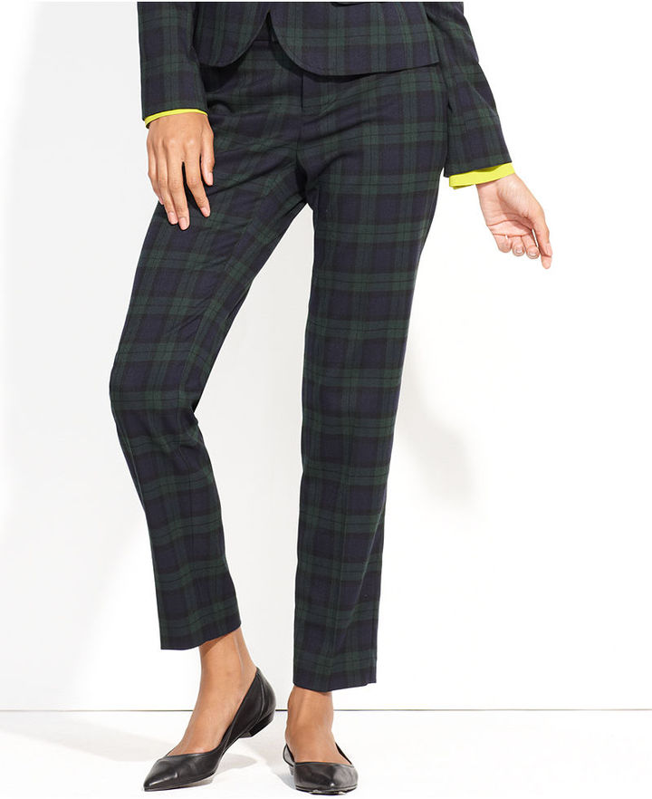 QMack Pants, Plaid Straight-Leg