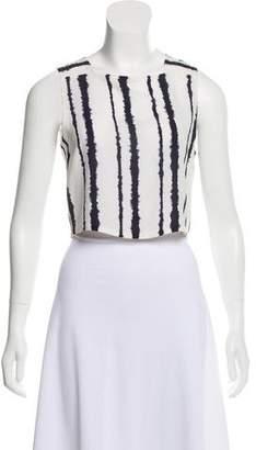 A.L.C. Silk Tie-Dye Crop Top