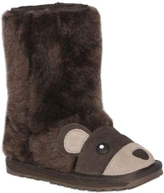 Emu Bear Wool & Suede Boots