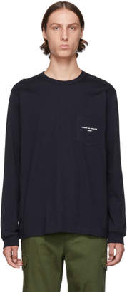 Comme des Garcons Homme Navy Logo Long Sleeve T-Shirt