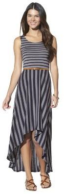 Xhilaration Junior's Belted High Low Maxi Dress