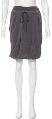 Brunello Cucinelli Silk Draped Skirt