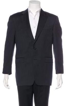 Burberry Striped Wool Blazer