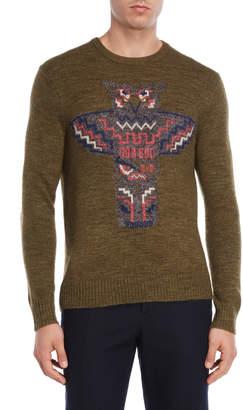 Michael Bastian Olive Owl Sweater