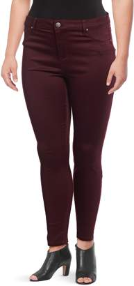 Design Lab Plus Cotton-Blend Skinny-Fit Pants
