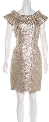Marchesa Knee-Length Brocade Dress