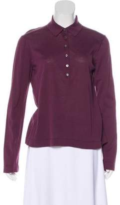 Malo Ribbed Button-Up Top