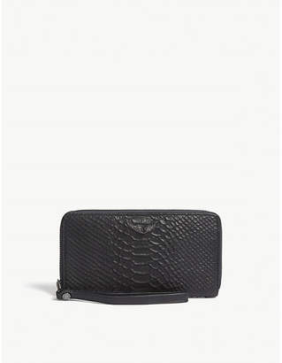 Zadig & Voltaire Compagnon Savage crocodile-embossed leather wallet