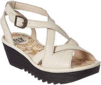 Fly London Rand Leather Wedge Sandal