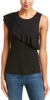 Three Dots Ruffle Top