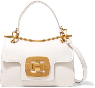Miu MiuMiu Miu - Lips Textured-leather Shoulder Bag - White