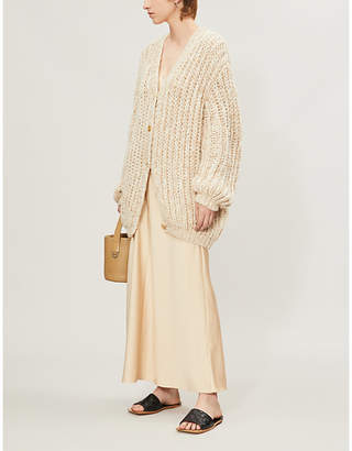 The Row Seilde chunky cashmere-silk cardigan