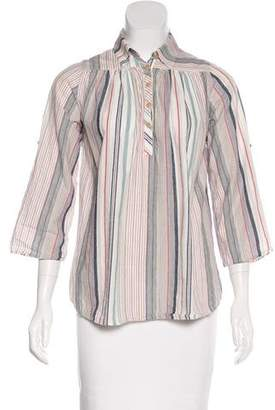 Steven Alan Striped Long Sleeve Top