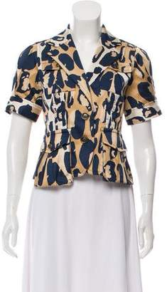Diane von Furstenberg Silk Printed Short Sleeve Top