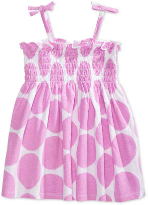 First Impressions Dot-Print Smocked Cotton Sundress, Baby Girls, Created for Macy's