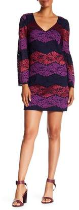 Trina Turk Revue Bell Sleeve Lace Dress