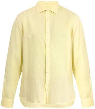120% Lino 120 LINO Single-cuff linen shirt