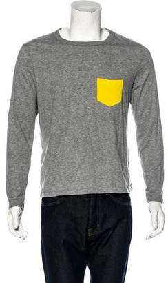 Band Of Outsiders Color-Blocked Long Sleeve T-Shirt