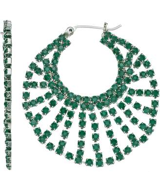 Vera Wang Simply Vera Green Stone Hoop Earrings