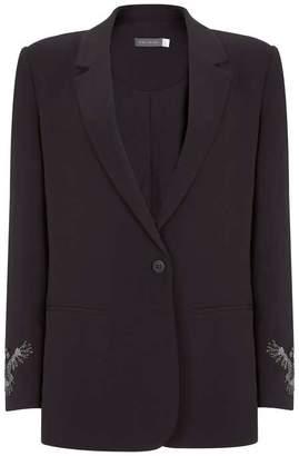 Mint Velvet Black Bird Cuff Blazer