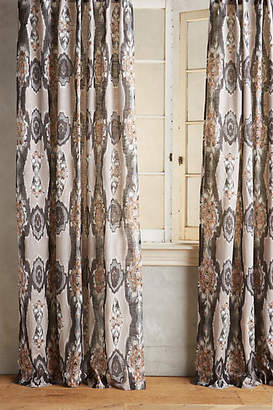 Anthropologie Stretched Ikat Curtain