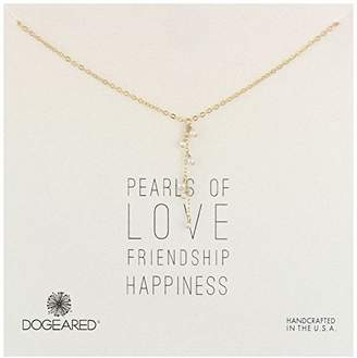 Dogeared Pearls of Cluster Drop Pearls Gold Necklace
