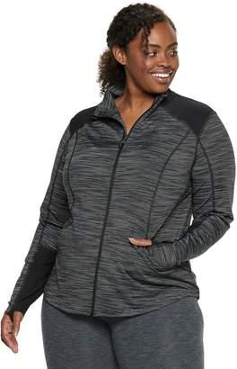 Tek Gear Plus Size Performance Thumb Hole Full Zip Jacket