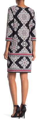 Sandra Darren Geo Graphic Print Dress