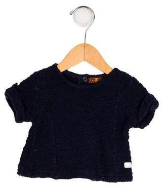 7 For All Mankind Girls' Knit Crew Neck Top