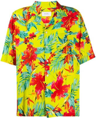 Rhude tropical print shirt