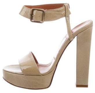 Lanvin Leather Platform Sandals