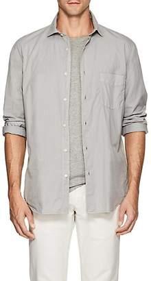 Hartford Men's Garment-Dyed Cotton Shirt - Silver
