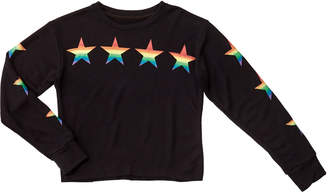 Flowers by Zoe Girl's Rainbow Star Print Pullover Sweatshirt, Size S-XL