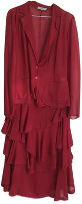 Ventilo Armand Red Silk Skirt for Women Vintage