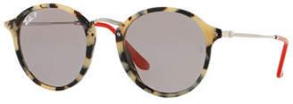 Ray-Ban Round Plastic & Metal Polarized Sunglasses