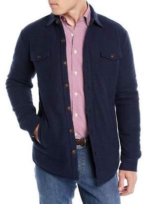 Peter Millar Men's Mountainside Button-Front Shirt Jacket