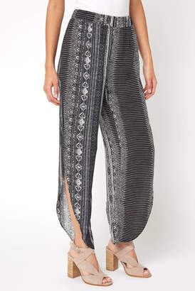Olivaceous Printed Side Wrap Pant