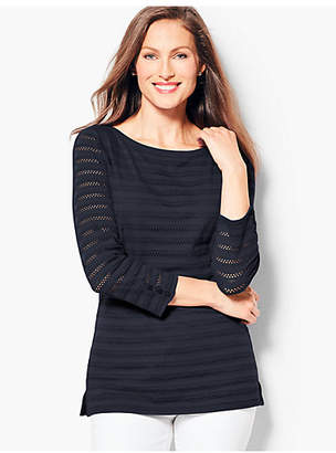 Talbots Textured Bateau Neck Top