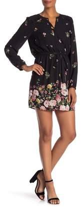 Daniel Rainn DR2 by Long Sleeve Floral Ruffle Dress