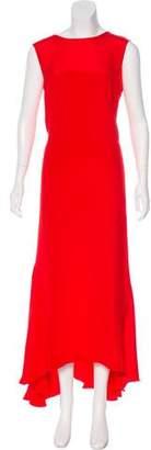Cédric Charlier Silk Asymmetrical Dress w/ Tags