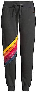 Aviator Nation Women's Cross Stripe Sweatpants