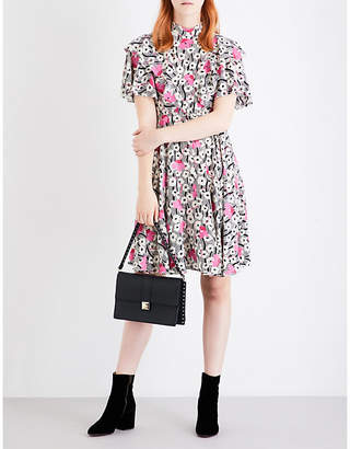 Valentino Vady floral-print silk dress $3,550 thestylecure.com