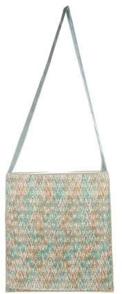 Missoni Metallic Woven Messenger Bag