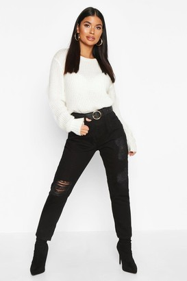 boohoo Circle Ring Boyfriend Belt
