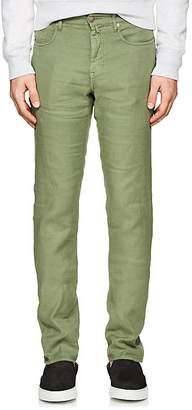 Incotex Men's Ray 5-Pocket Linen-Blend Pants